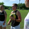 Stephanie Robinson strategizes with a fellow teammate. Photo by Antonia Padilla.