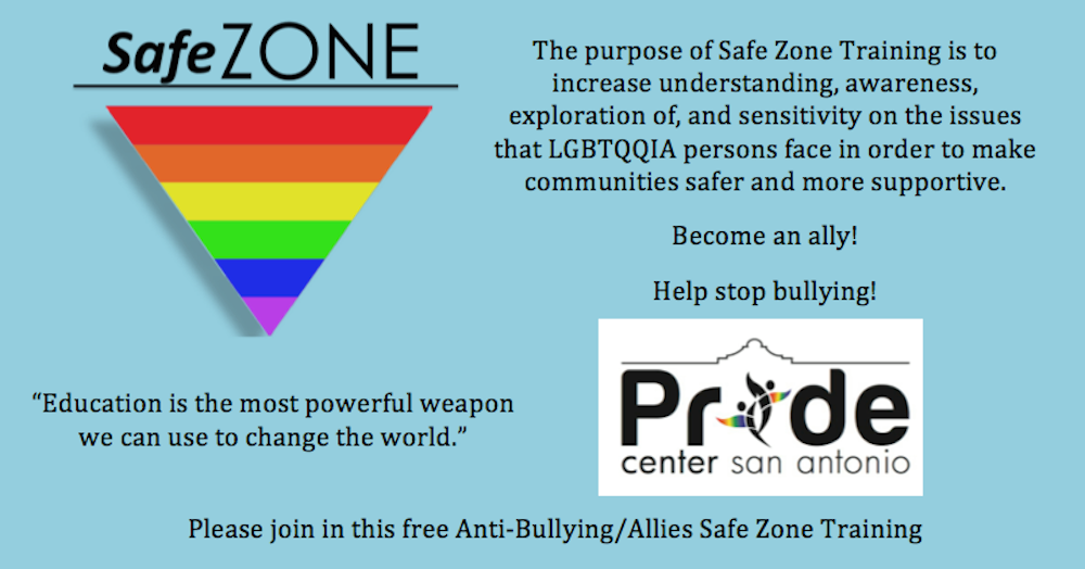 LGBT Safe Zone Training: Learn how to be an ally - Out in SA