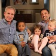 Gays With Kids founders Ferd Van Gameren (left) and Brian Rosenberg, with their son Levi and daughters Ella and Sadie