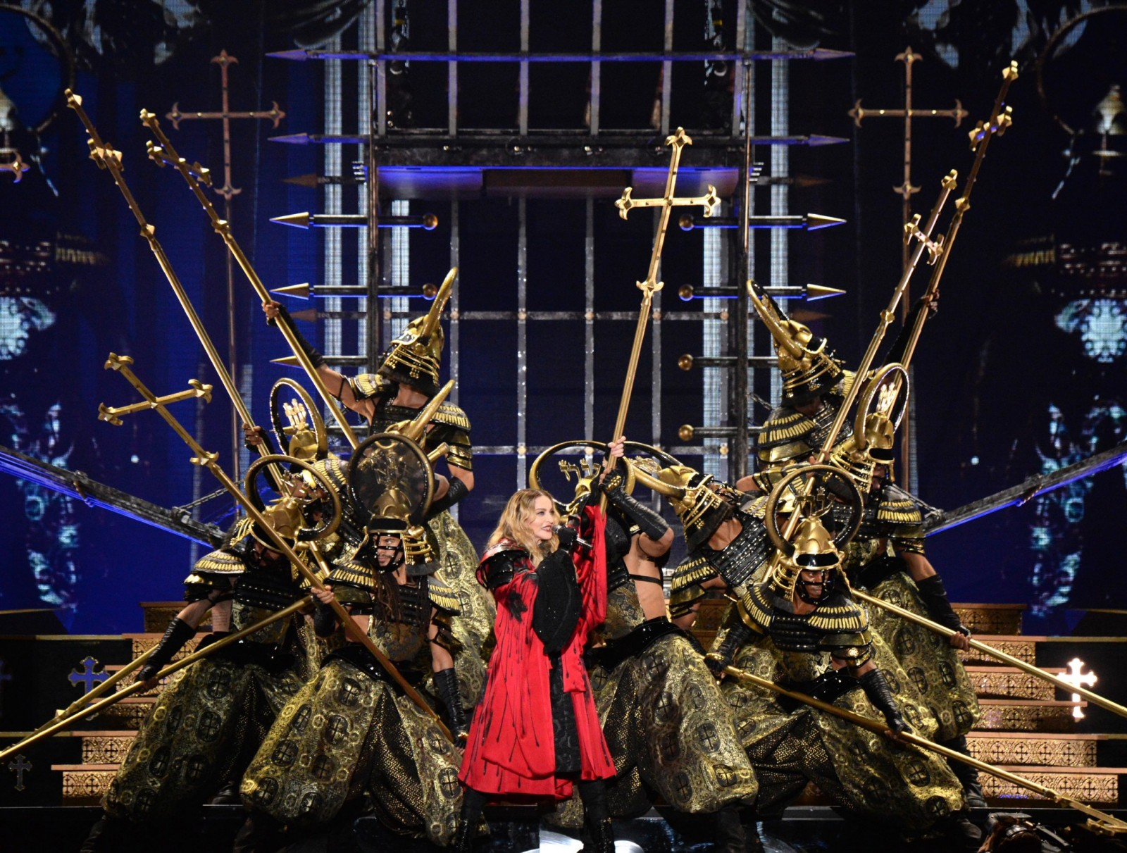 """Madonna performs onstage during her """"Rebel Heart"""" tour opener in Montreal, Canada. Photo by Kevin Mazur/Getty Images for Live Nation."""