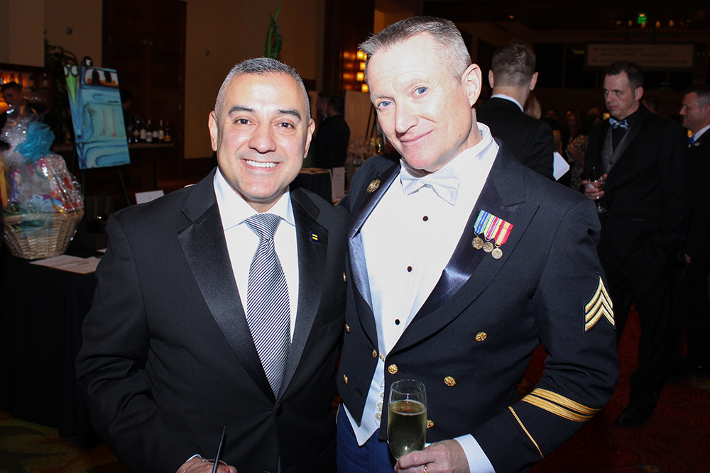 Eric Alva and partner Danny Ingram at the HRC San Antonio Gala
