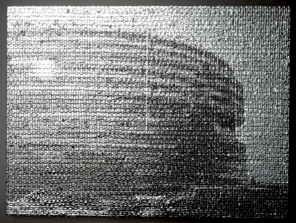 Aluminium/Watergate, 2004, oil on linen and light loop