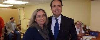 Laura Barbarena and State Sen. Jose Menendez