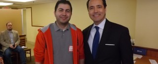 Jacob Middleton and State Sen. Jose Menendez