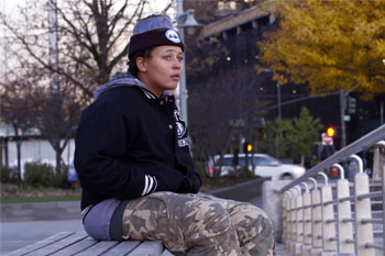 "Danielle is one of several homeless LGBT youths profiled in ""A Road to Home."""