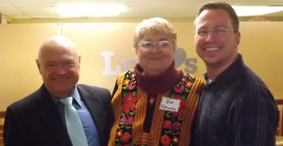Stonewall members Dan Graney, Dee Villarubia, and Chris Forbrich at the group's candidate endorsement forum on Jan. 24.