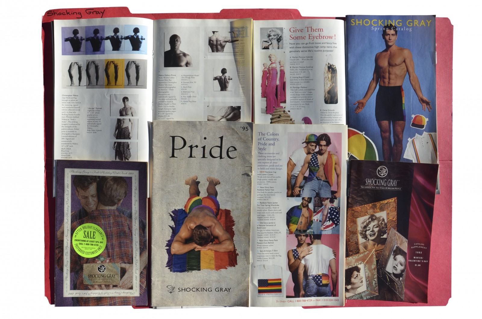 A selection of Shocking Gray catalogs preserved in the HAPPY Foundation Archives