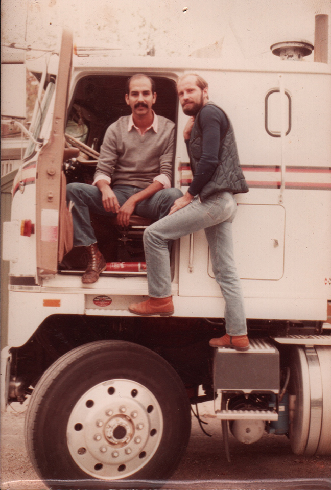 Longtime lovers John McBurney and Michael Marmontello back in the day