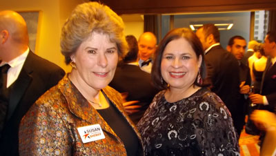 Then-candidate for sheriff, Susan Pamerleau, with then-State Senator Leticia Van De Putte at the 2012 HRC Gala and Silent Auction. (Photo by Sam Sanchez)