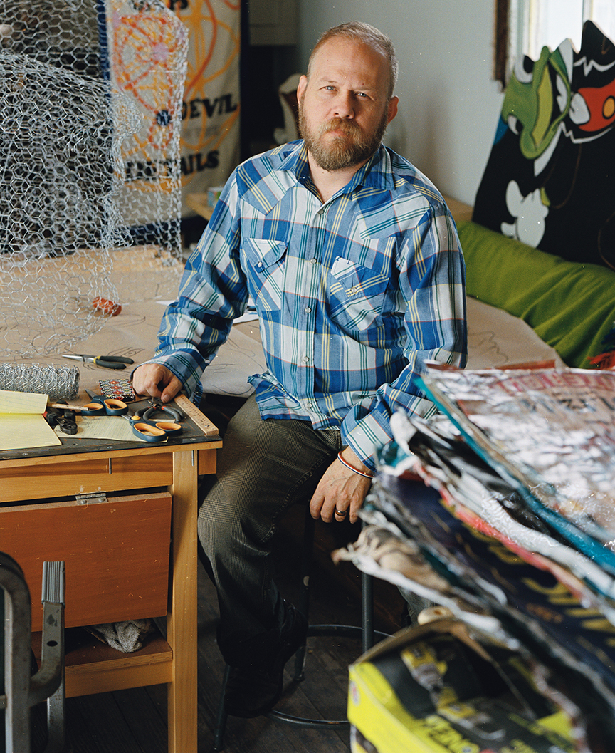 Chris Sauter photographed in his studio for Out In SA