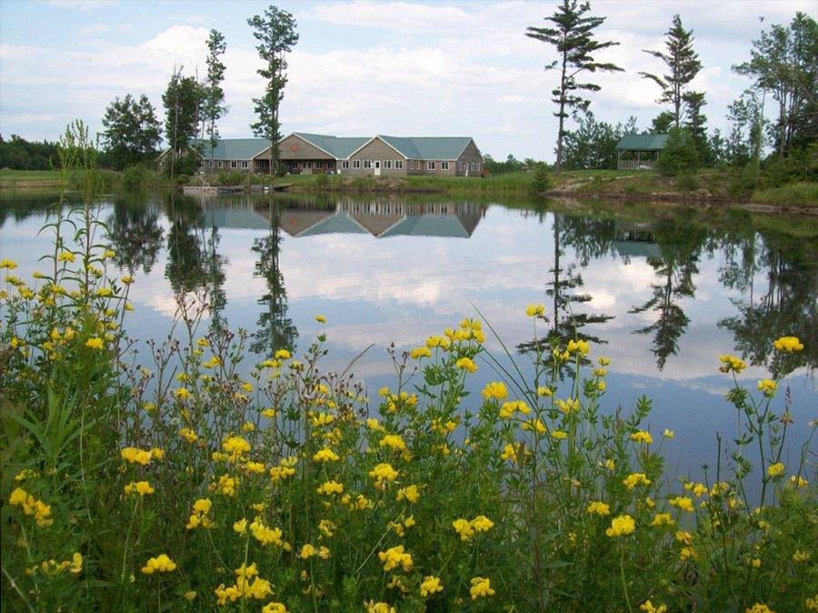 A view of the main lodge at Twin Ponds