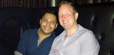 Frank Hernandez Escalante and Brett Rigas. (Photo: Facebook)