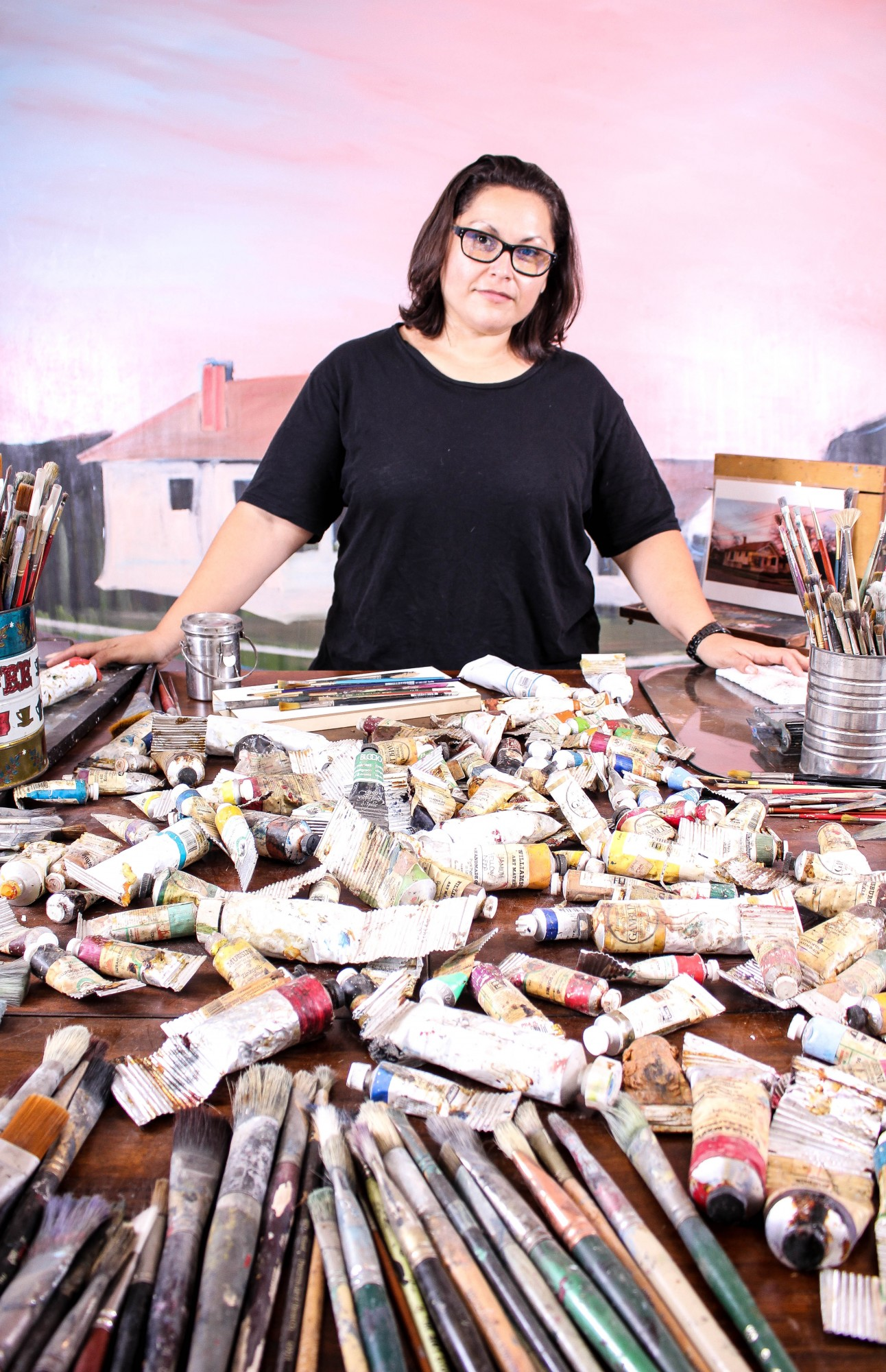 Ana Fernandez photographed in her studio by Julián P. Ledezma