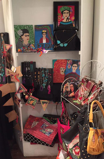 Art and accessories by Deloris Gonzales-Jarvis.