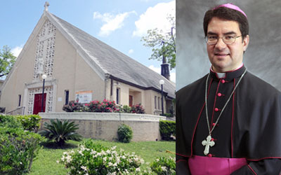 St. Ann's Catholic Church. Bishop Oscar Cantu. (Courtesy photos)