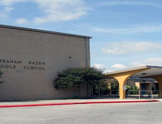 According to research by the San Antonio Express-News, Kazen Middle School in the South San Antonio ISD had the highest number of bullying complaints during the 2014-2015 school year. (Photo: SouthSanISD.net)