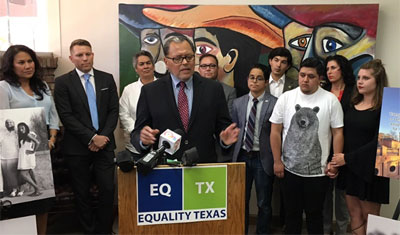 State Sen. Jose Rodriguez at a press conference in El Paso last June. (Video capture via KVIA-TV)