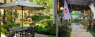 The garden at Arbor House Suites (Courtesy photos