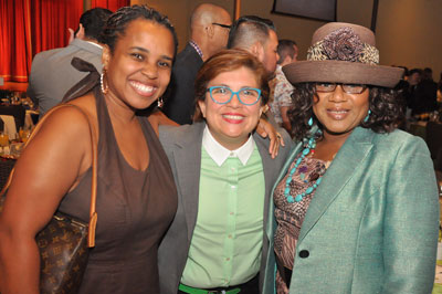 Tonya Pacetti Perkins, Anel Flores and Naomi Brown at the 2015 Equality Texas Spirit of Texas Brunch.