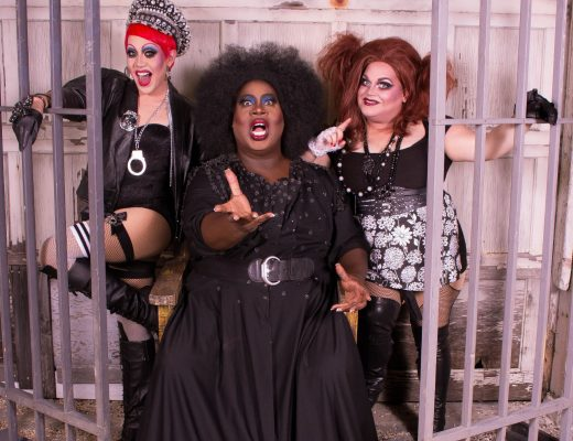 The Rocky Horror Show costars Phi Phi O'Hara (as Columbia), Latrice Royale (as Dr. Frank N. Furter) and Ginger Minj (as Magenta) photographed by Julián P. Ledezma