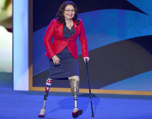 Congresswoman Tammy Duckworth (Screen capture via DNC video)