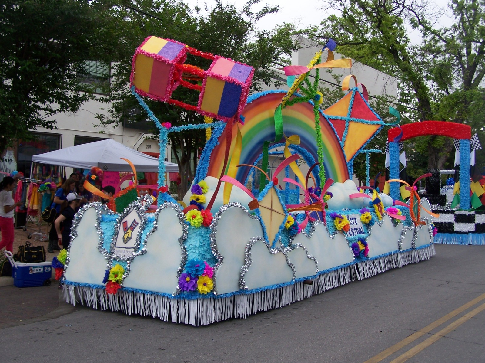 An example of Villejo's work on parade floats
