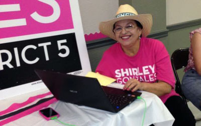 Choco Meza was campaign manager for City Councilwoman Shirley Gonzales and went on to become her chief of staff (Photo: Facebook)