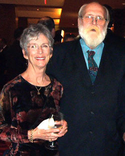 "Robert ""Papa Bear"" Edwards at the 2010 HRC Gala with Susan Bradley, former volunteer coordinator for SAAF. (Photo: Sam Sanchez/QSanAntonio)"