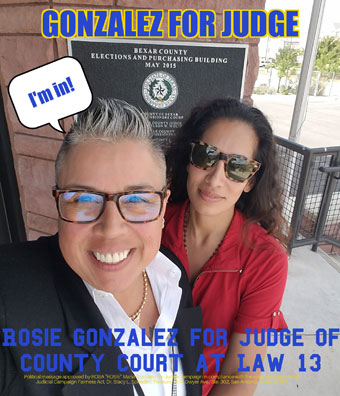 Rosie Gonzalez Announces Run for Judge of County Court at