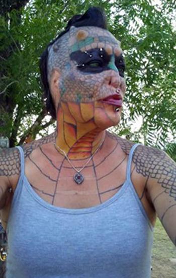 Texas Bred Dragon Lady Tiamat Medusa Takes Body Modification